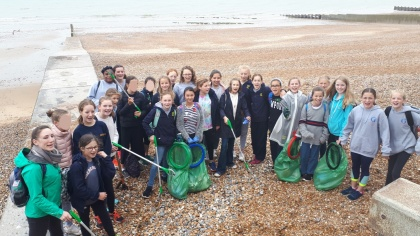 Local School Hosts Beach Clean at Beachy Head East and Supports MCZ Consultation
